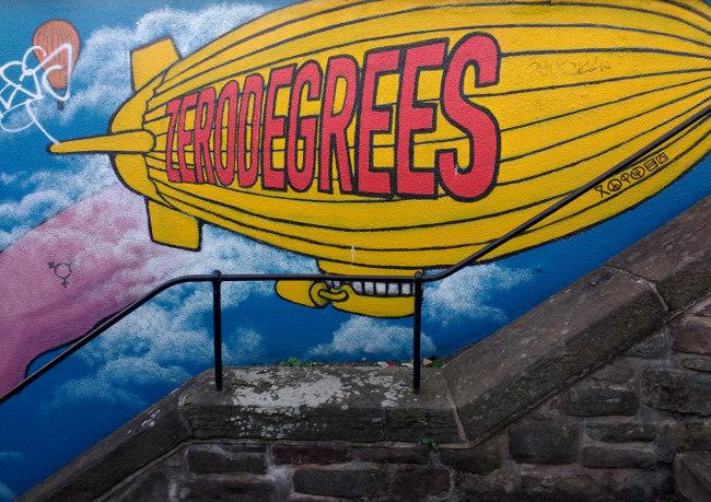 Graffiti outside Zero Degrees.