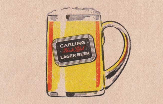 Carling Black Label beer mat.