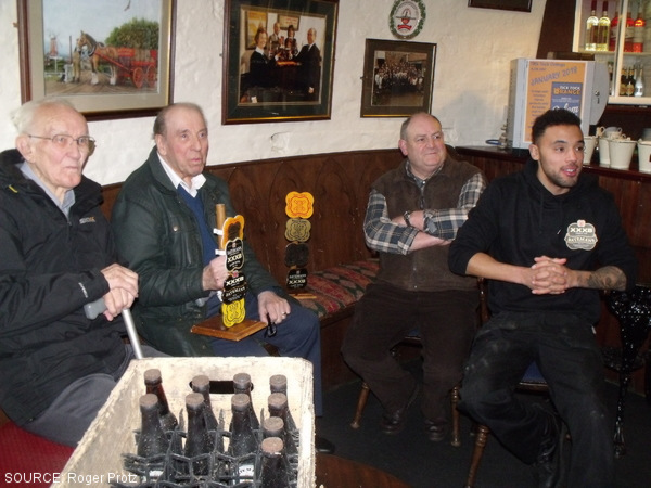 Bateman's brewers in Mr George's Bar.