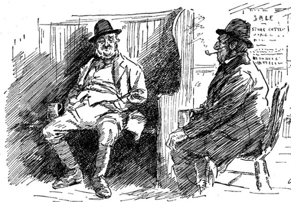 Two old men in a village pub.
