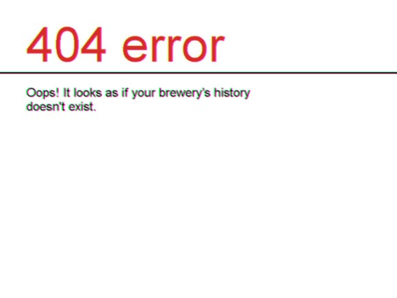 404 error: it looks as if your brewery's history doesn't exist.