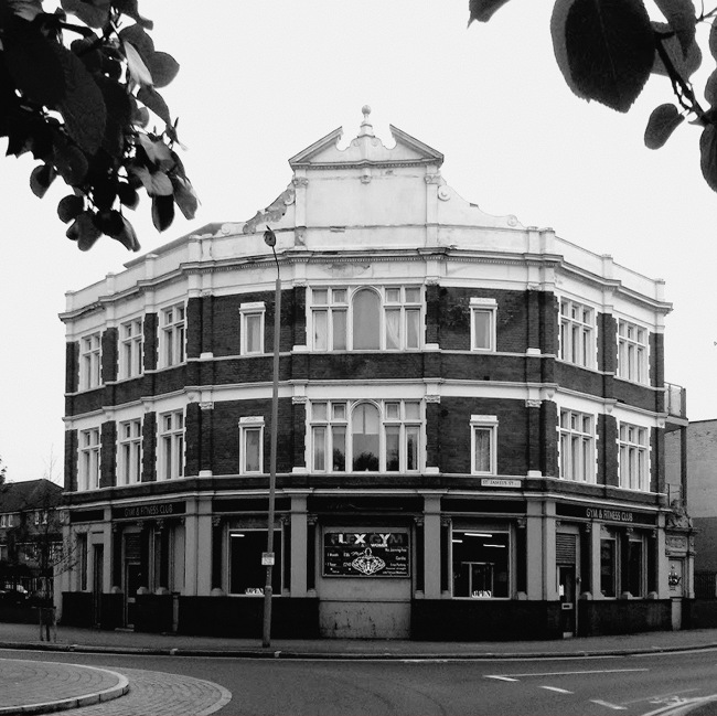 A large Victorian pub.