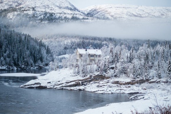 Norway in the snow.
