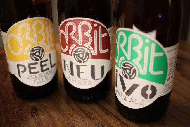 Orbit beers in a row.