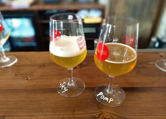 Tasting glasses at Small Bar.