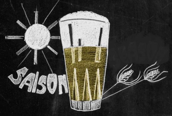 A glass of saison.