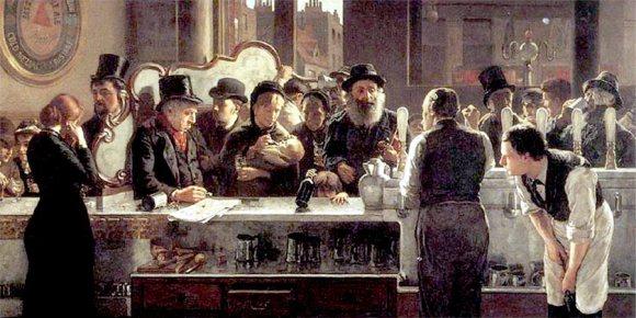A Victorian pub.