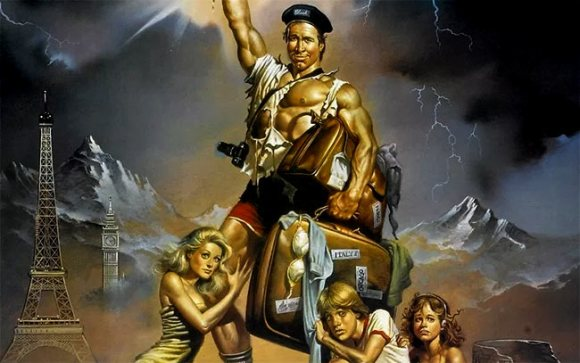 Detail from the poster for National Lampoon's European Vacation.