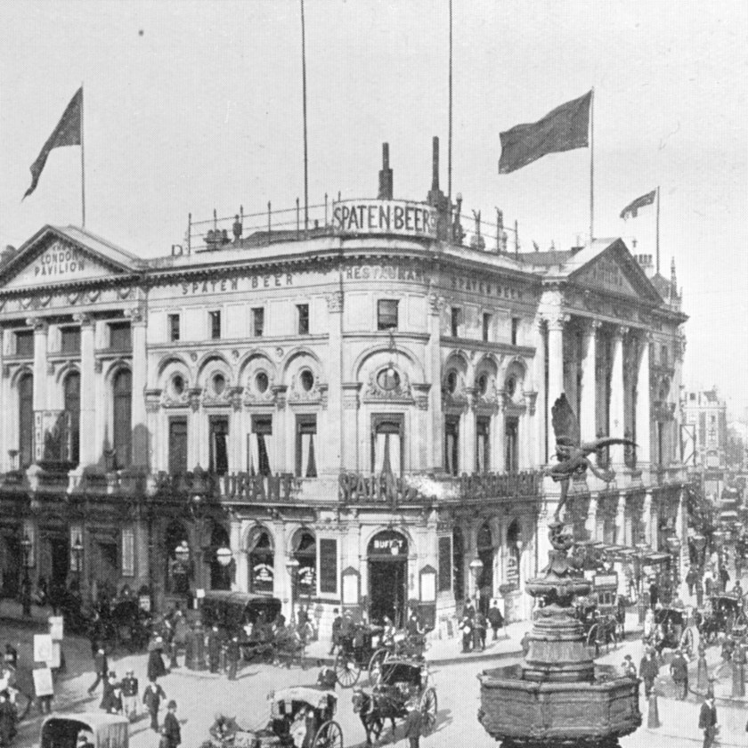 The Spaten Beer Restaurant, Piccadilly, c.1908.
