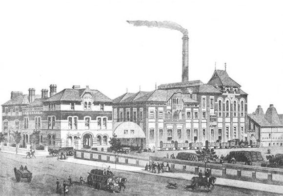 The Dorchester Brewery c.1889.