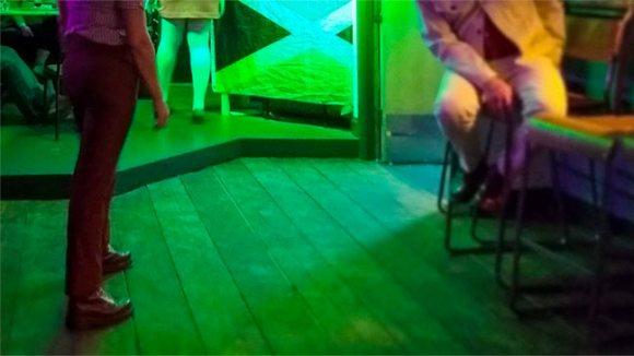 The dancefloor at the Elmer's Arms pub.