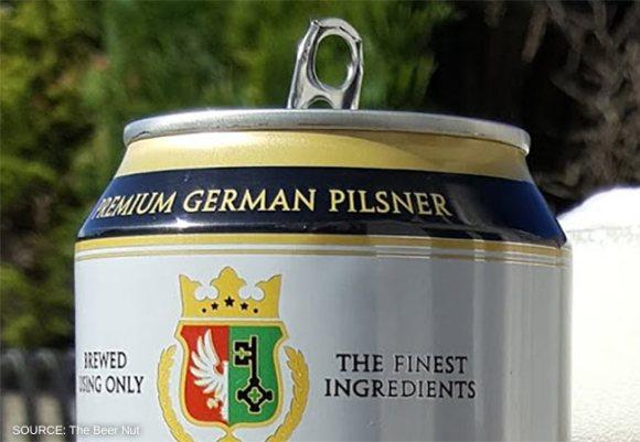 Rheinbacher Pilsner lager can.
