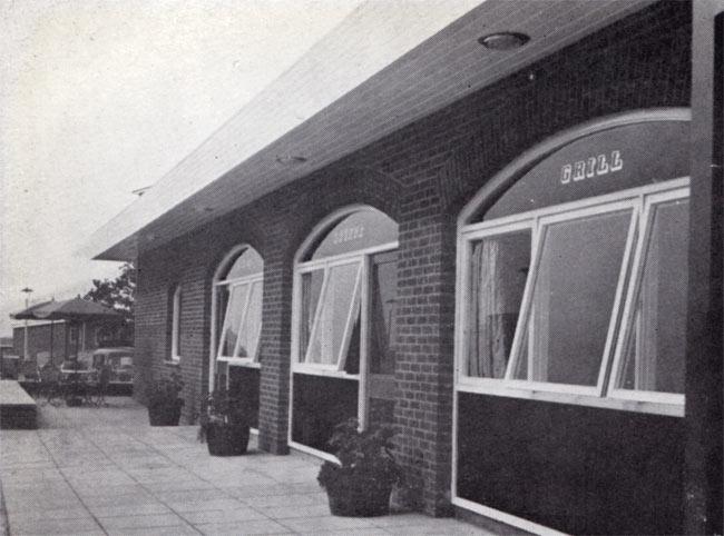 Modern pub windows.