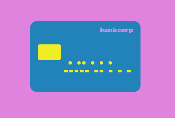 Debit card illustration.