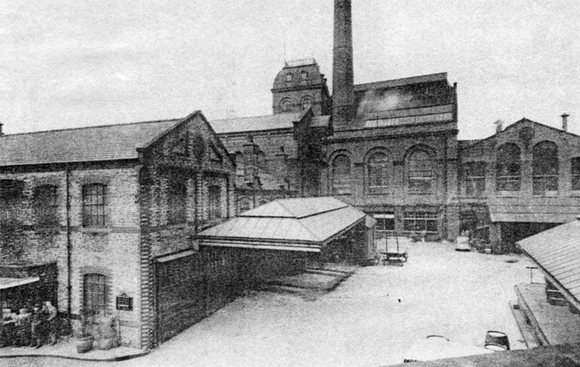 Greenall Whitley's brewery in the 1930s.