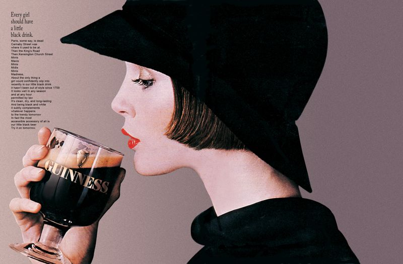Guinness: a nice, interesting drink for nice, interesting women, 1977-79