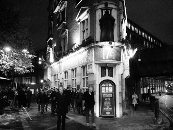 The Blackfriar pub.