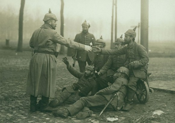German soldiers with beer.