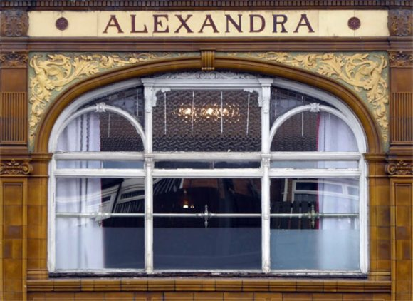 Alexandra hotel with tiling.