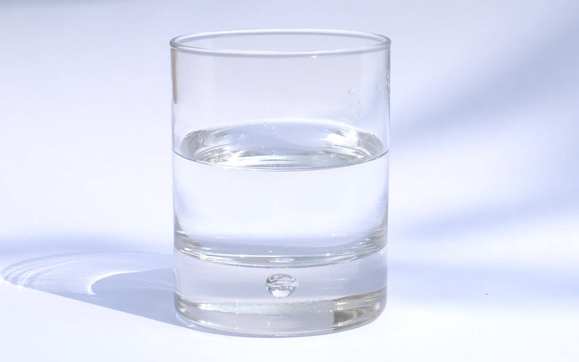 A cool glass of water.