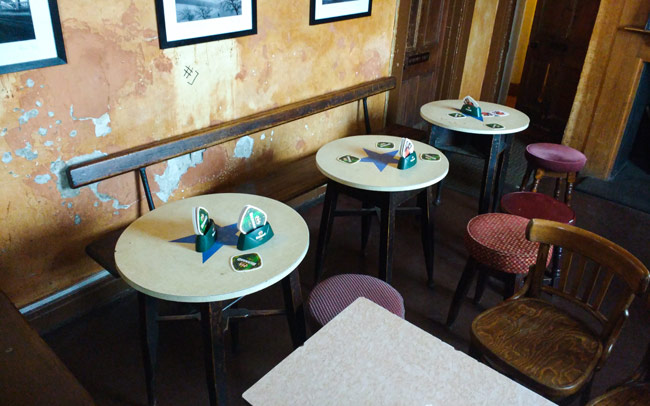 Free Trade Inn tables.