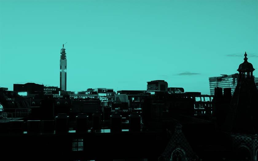 The Birmingham skyline.