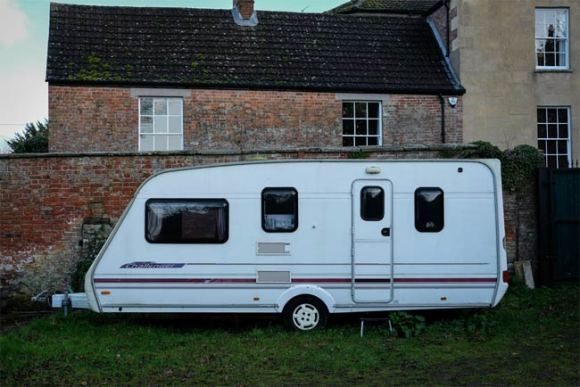 A caravan.