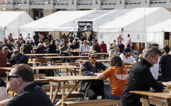Outdoor beer festival.