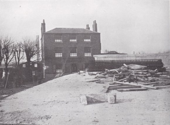 The old pub with the raised roadway.