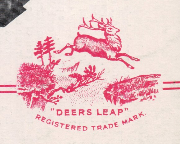 The leaping deer trademark.