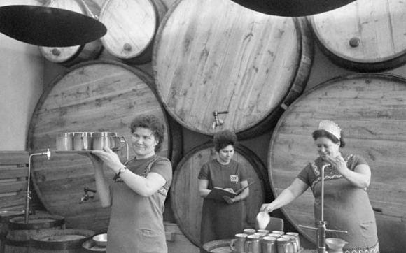 Women in a brewery.