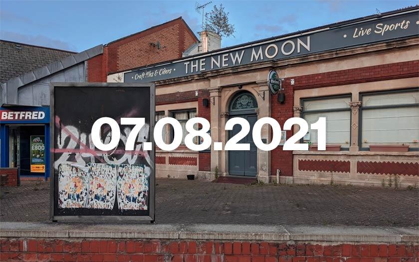 The New Moon, a pub in Bristol.