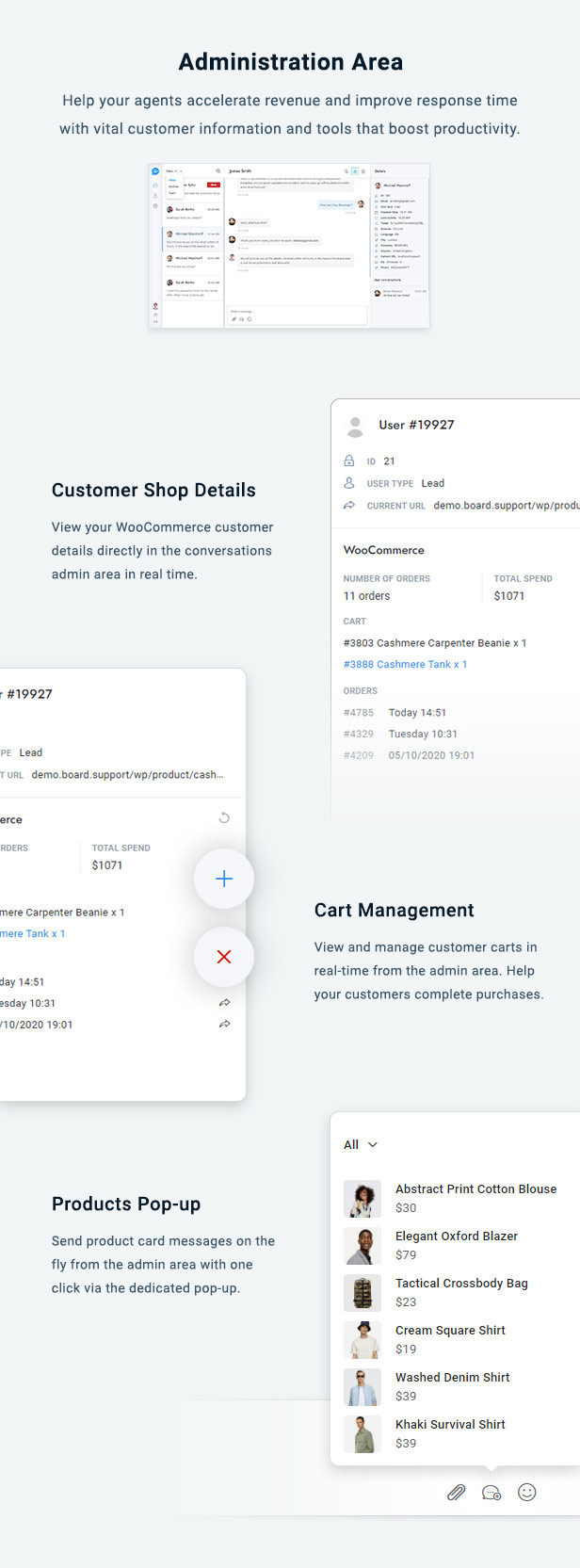 WooCommerce Chat Bot & Marketing App for Support Board - 4