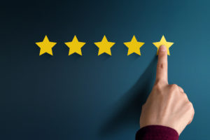 Man giving a star rating