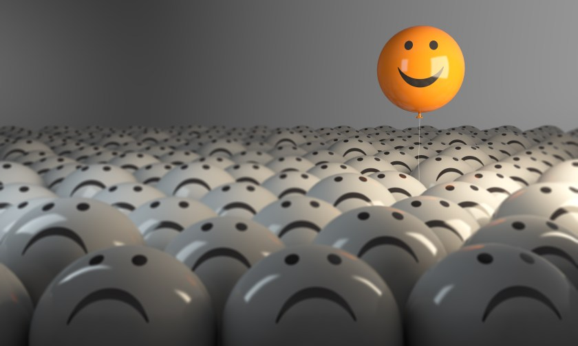 Standing Out From The Crowd With Smiling Sphere