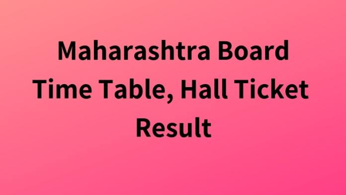 Maharashtra Board Time Table, Hall Ticket Result
