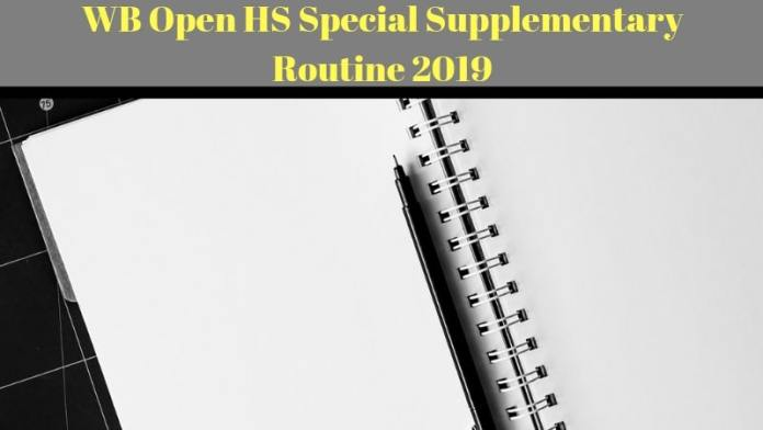 Rabindra Open Schooling HS Special Supplementary Exam Routine 2019