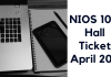 NIOS 10th Hall Ticket April 2019