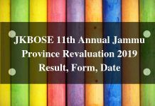 JKBOSE 11th Annual Jammu Province Revaluation 2019 Result
