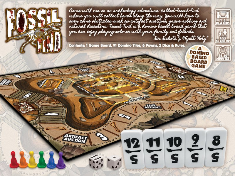 Game Designs Board Games Card Games Custom Games Design Companies     Fossil Find Domino Based Board Gam