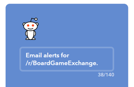 IFTTT applet for board game deals on /r/boardgameexchange