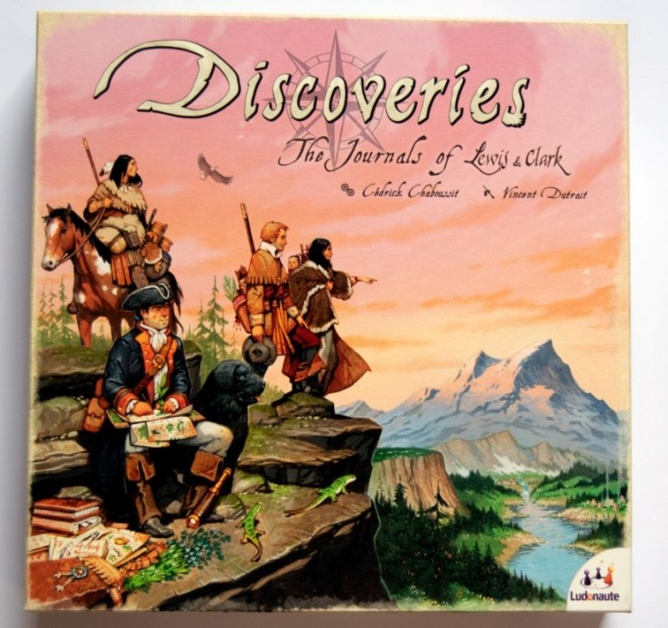 Figure 1: Front of the box (Discoveries: The Journals of Lewis & Clark)