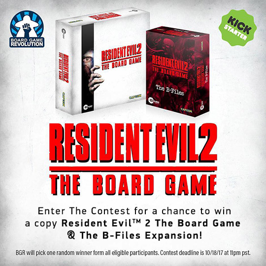 Resident Evil 2 Giveaway by Board Game Revolution! - Boardgame Stories
