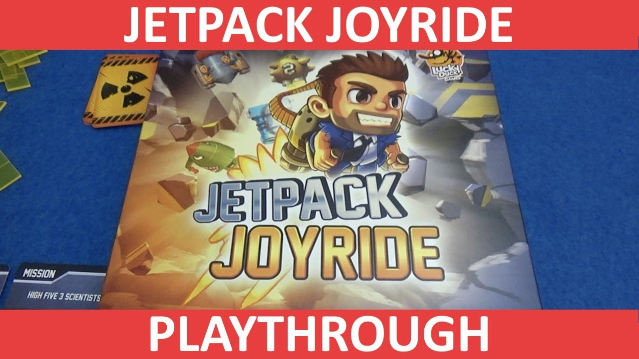 Jetpack Joyride Playthrough - BoardGame Stories