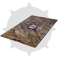 Gouged Eye Orc Blood Bowl Neoprene pitch