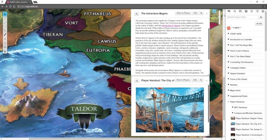 Paizo Announces Partnership with Roll20: Virtual Tabletop