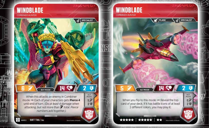 Transformers Trading Card Game Rise of the Combiners Windblade