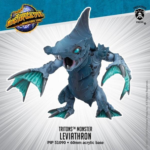 LEVIATHRON - MONSTERPOCALYPSE TRITON MONSTER