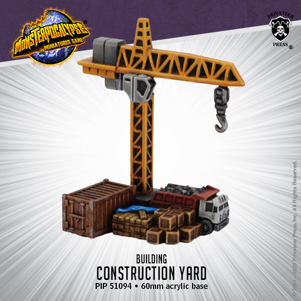 CONSTRUCTION YARD - MONSTERPOCALYPSE BUILDING