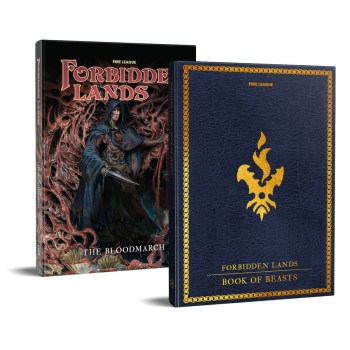 Forbidden Lands The Bloodmarch and Book of Beasts